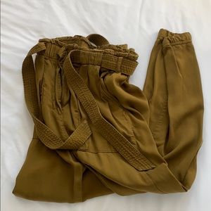 High waist button pants